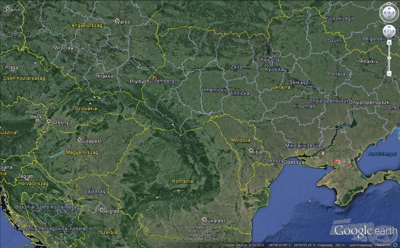 Prylbychi a térképen