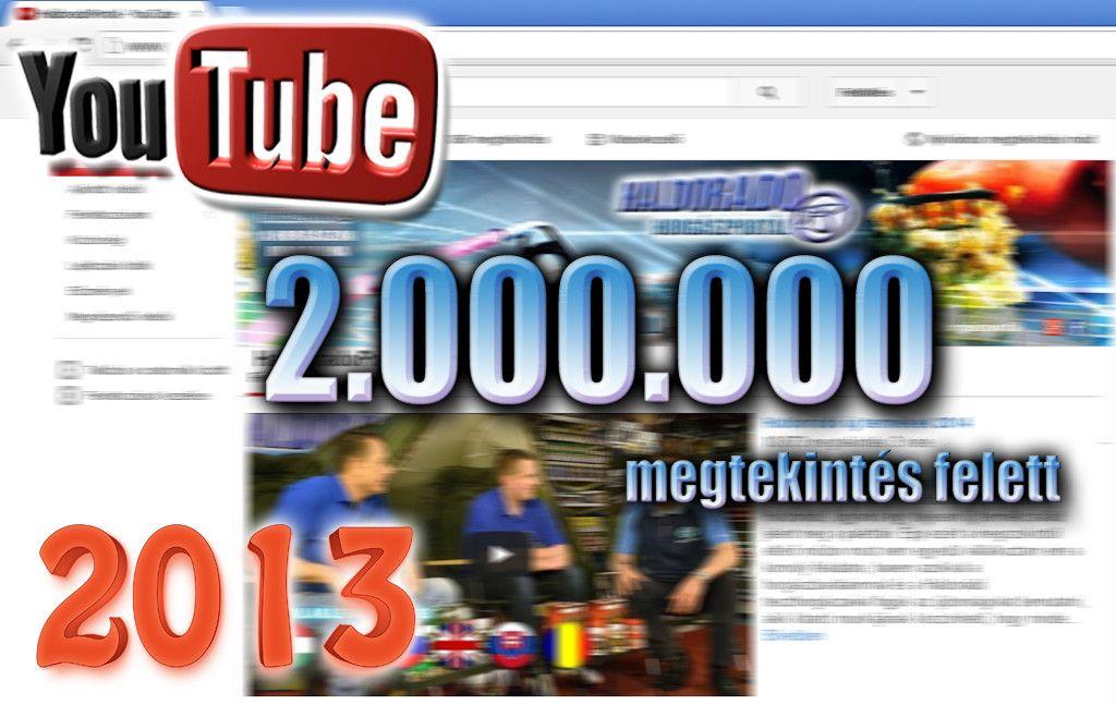 A Haldorádó YouTube csatorna 14 hónap alatt kiemelkedő, 2.000.000 feletti megtekintést ért el