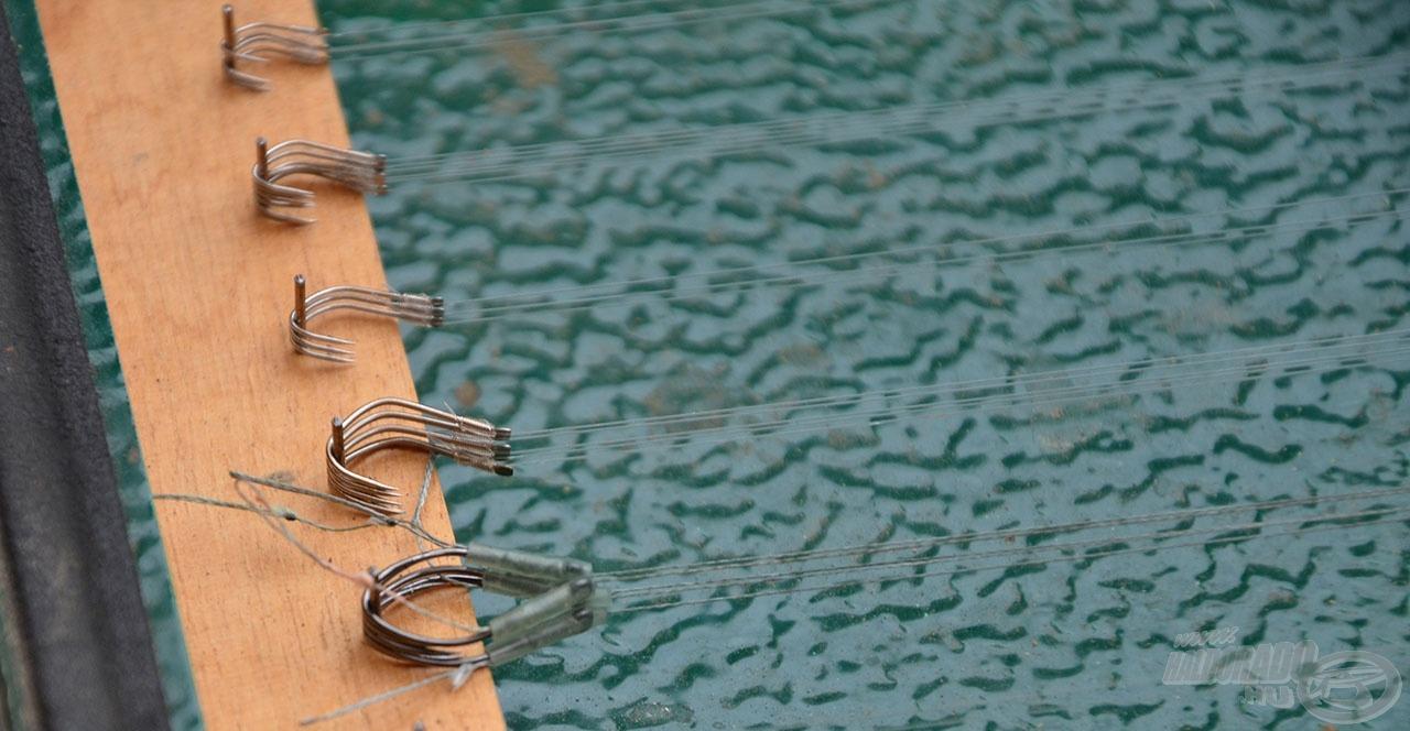 Az előre megkötött horogelőkék felgyorsítják a horgászatot, nem veszik el az arra szánt időt