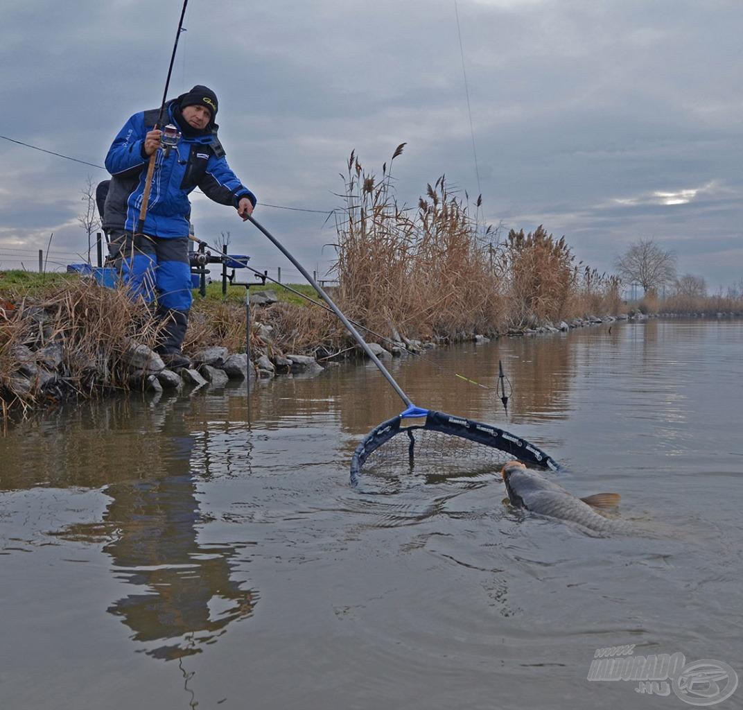 Ez a módszer többnyire a termetesebb halak szelektálását biztosítja