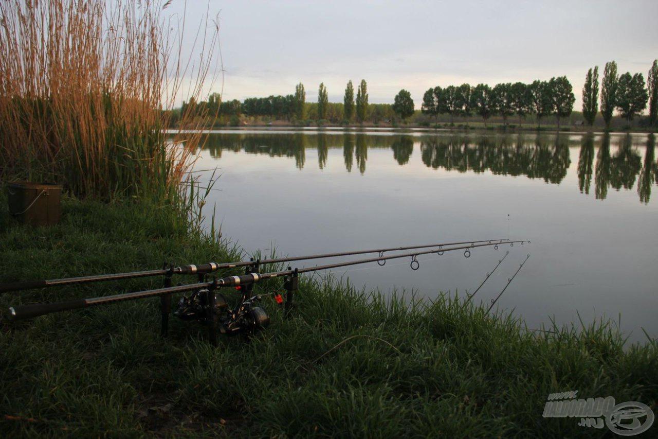 … a tó első részén