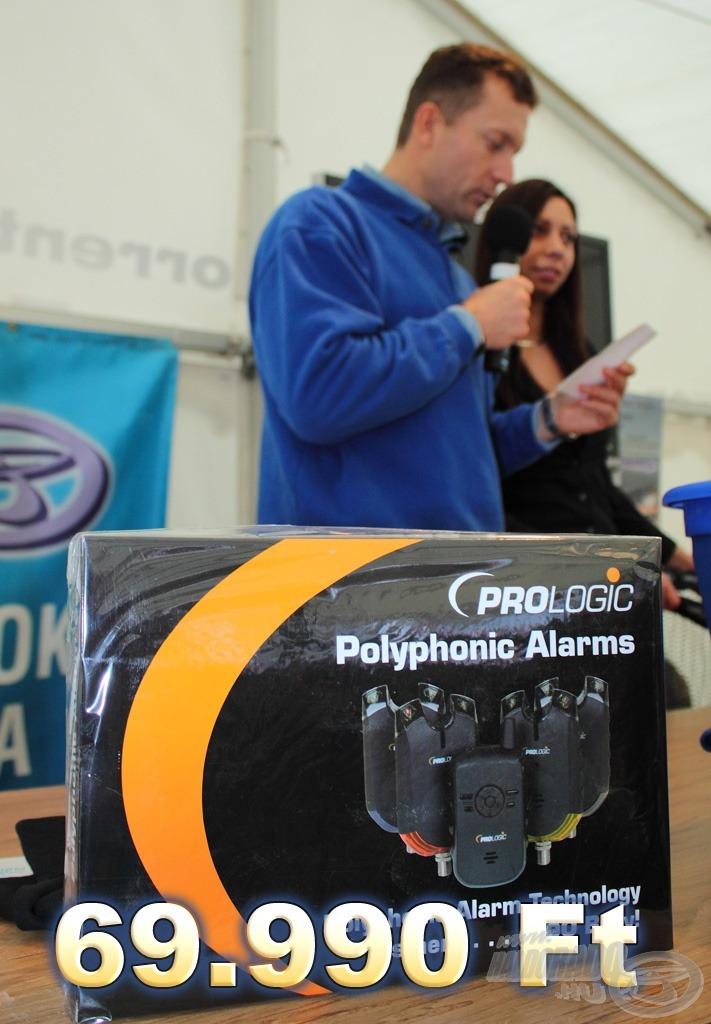 A tombola fődíja mindhárom napon 1-1 PROLOGIC Polyphonic 3 + 1 kapásjelző készlet, amelynek értéke 69.990 Ft!
