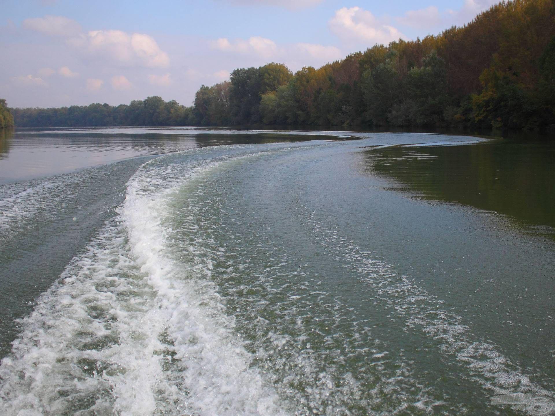 Amikor kisiklik a csónak és jól van trimmelve a motor, nincs nagy farhullám mögöttünk, így hasznosul legjobban a teljesítmény. Ezen a csónakbeli súlyelosztással is javíthatunk, vagy épp ronthatunk