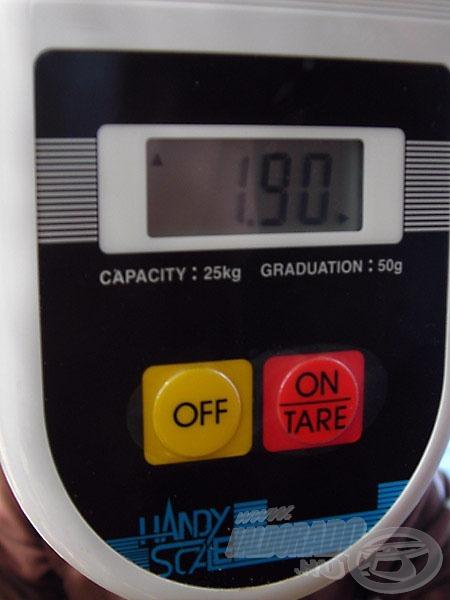 A mérleg 50 grammos egységekben mért - sajnos azok között nem lehetett rangsorolni, akik ötdekányi halat sem fogtak