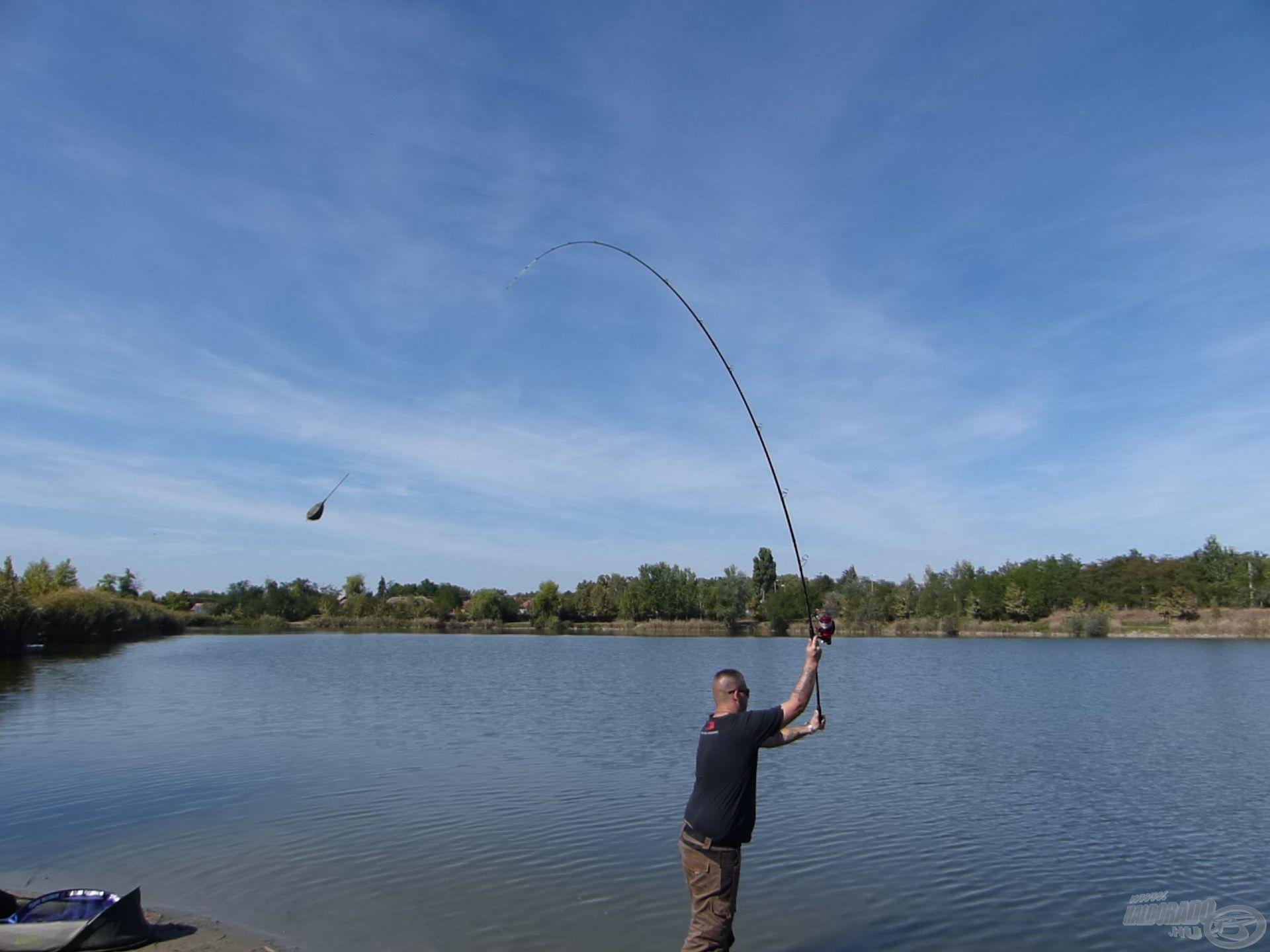 Ezzel a felszereléssel könnyedén elérhető az összes olyan zóna, ami számításba jöhet ezen a helyen horgászva