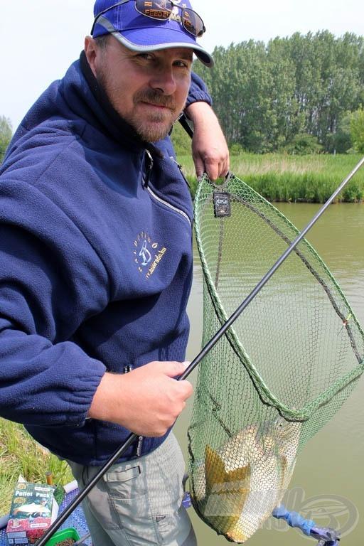 Nagy halhoz nagyméretű merítő kell