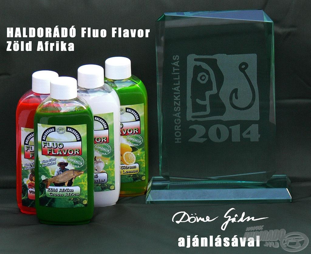 A Tavaszi Horgász Szakkiállítás és Vásár Nagydíját - az aromák között - a Haldorádó Fluo Flavor Zöld Afrika kapta meg!