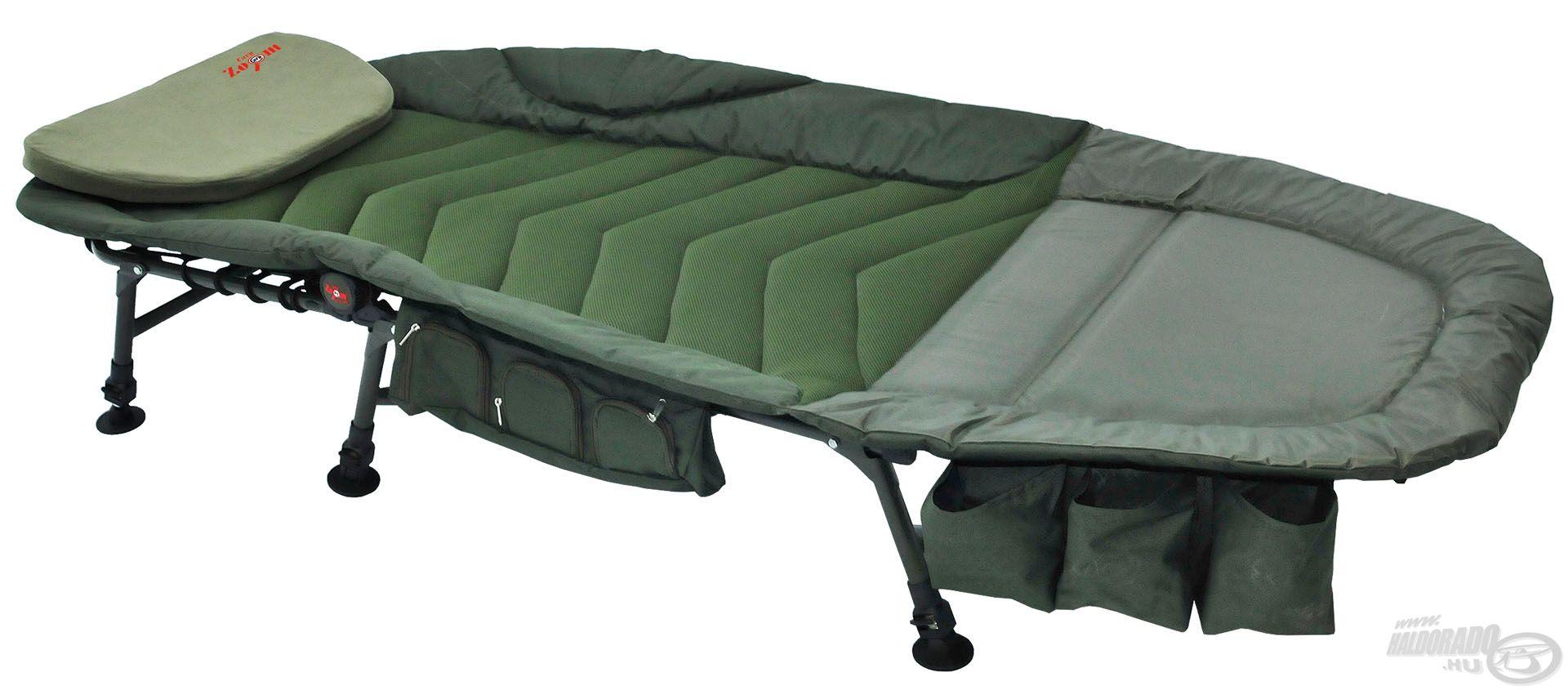 Az egyedi tervezésű Exclusive Pontyozó ágy számos hasznos tulajdonsággal rendelkezik, ráadásul igazán teherbíró is