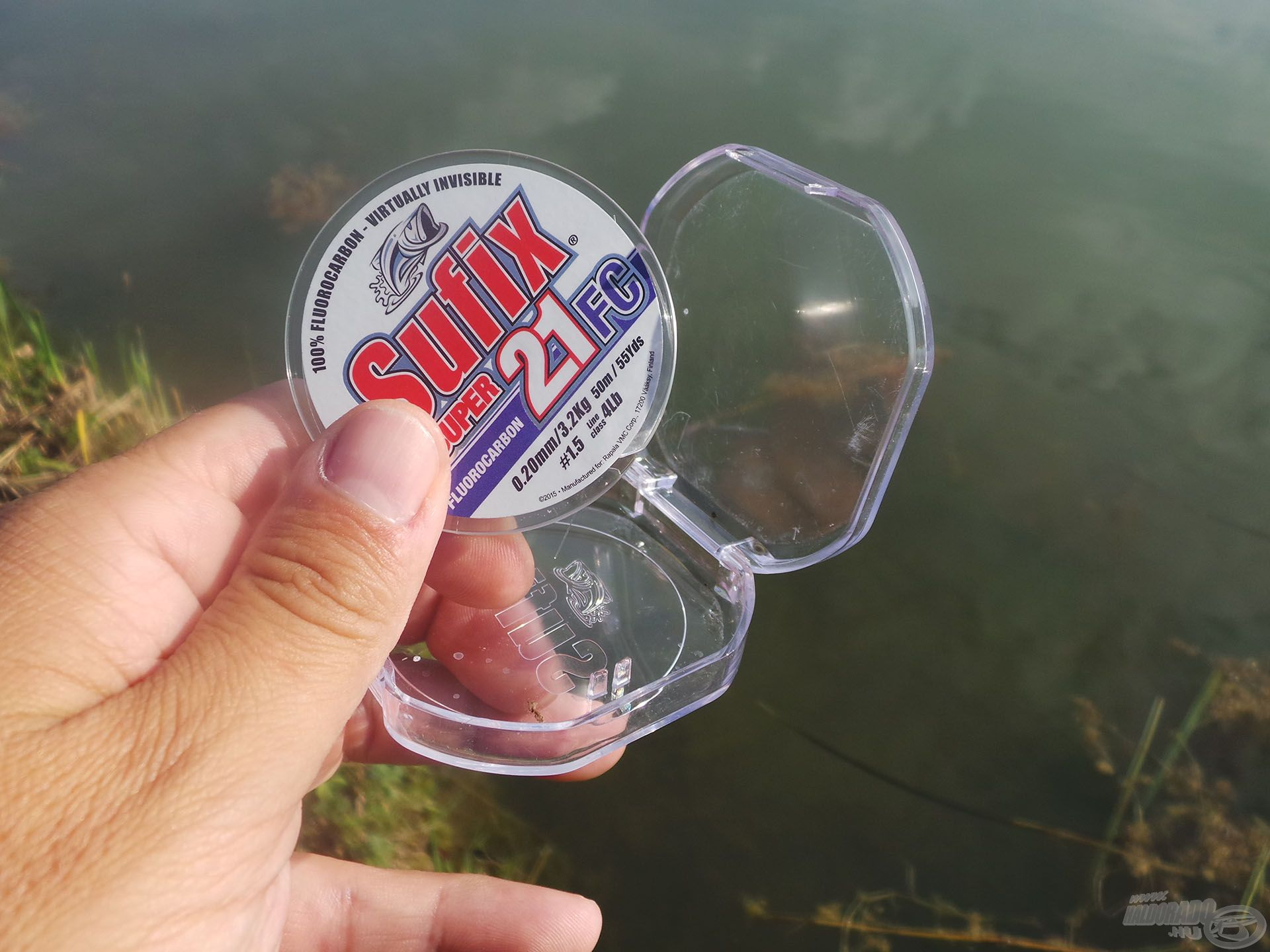 A Balaton tiszta vizében muszáj volt fluorocarbon előkét használni