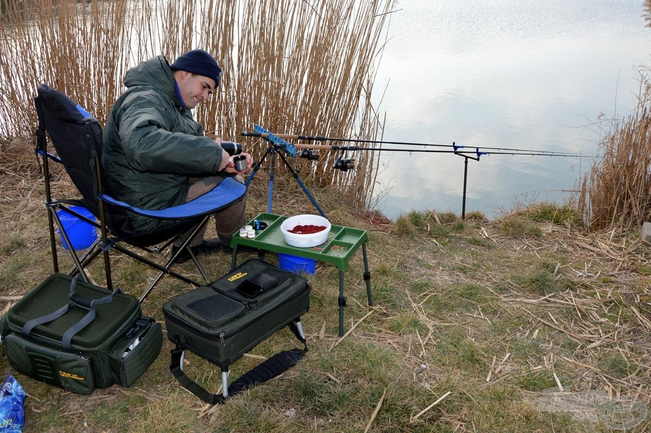 Fogyasszunk meleg teát horgászat közben!