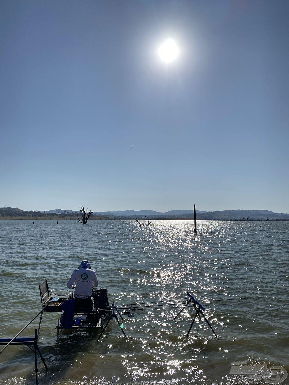 Az első fordulóban egy olyan helyet sorsoltam, ahol az edzésnapon egyetlen halat sem fogtak