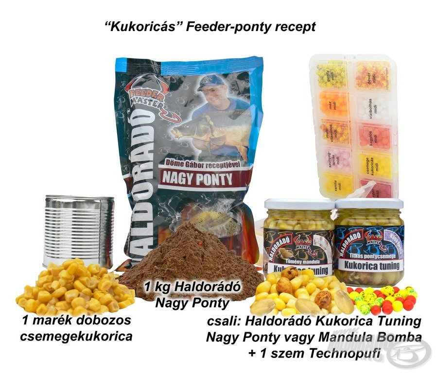 Kukoricás Feeder-ponty recept