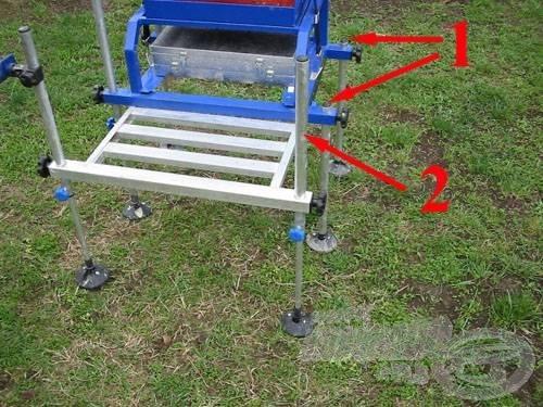 1. leengedett hagyományos lábaknál nem marad rögzítési lehetőségünk. 2. teleszkópos lábaknál akár az egész láb felületére tudunk pakolni különböző kiegészítőket