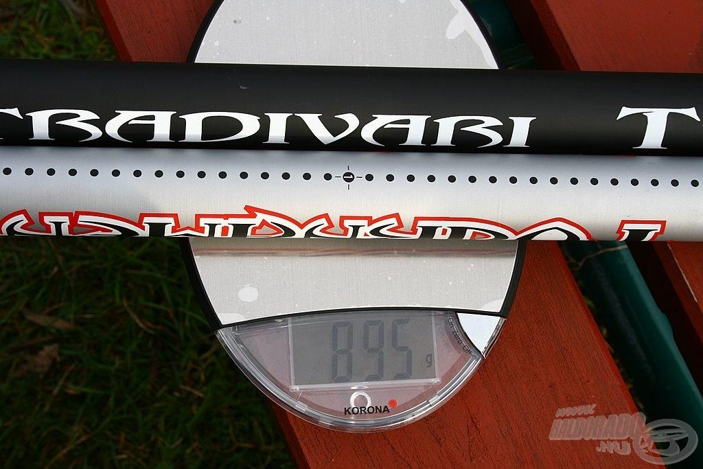 A jó versenybotok tömege 800-950 g között van