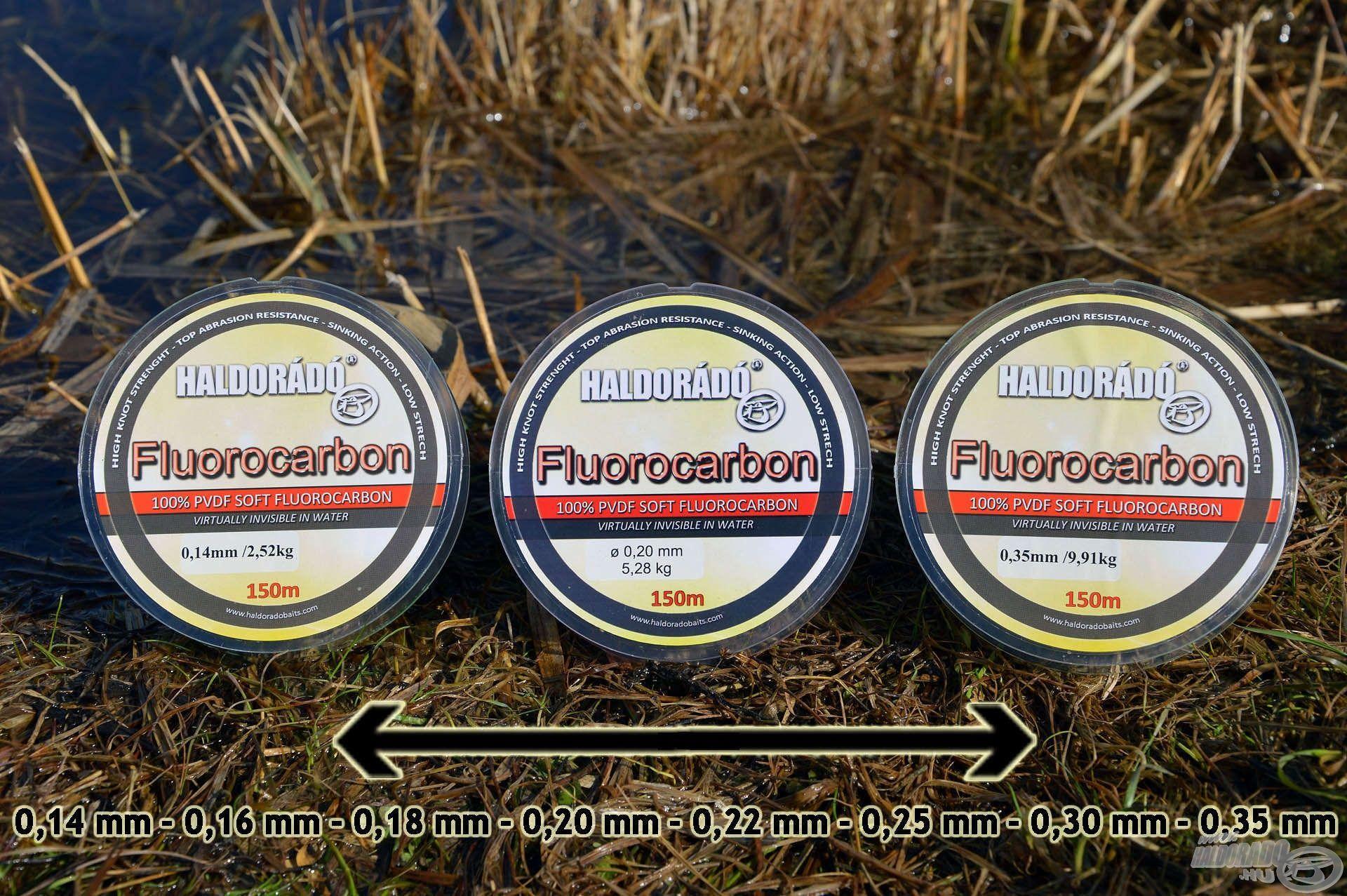 A Haldorádó Fluorocarbon egy 100%-os tisztaságú, prémium minőségű fluorocarbon sorozat, aminek vastagabb tagjai ideálisak dobóelőke zsinórnak!