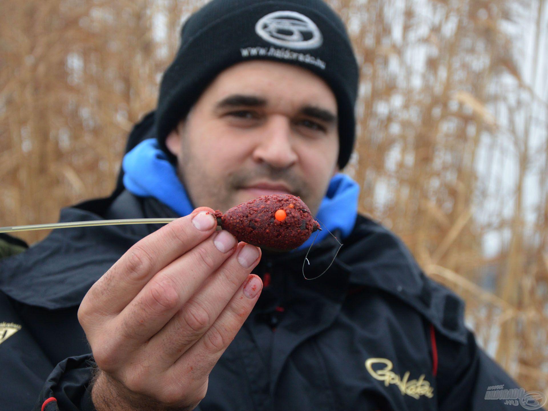 Télen nagy hal horgászathoz is bőven elegendő egy kosárnyi csalogató anyag!