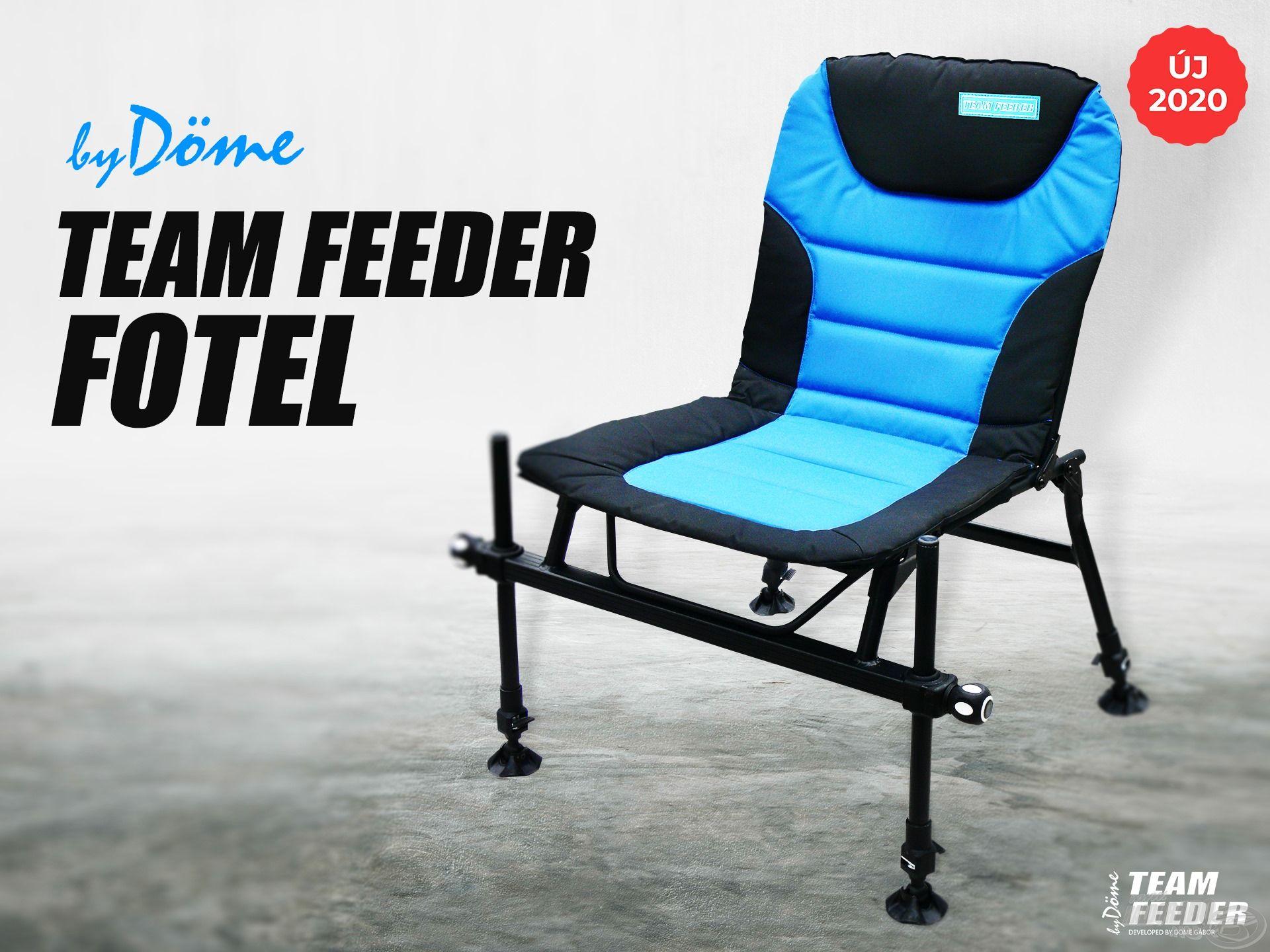 Örömmel mutatjuk be a By Döme TEAM FEEDER Fotelt, ami egy jól átgondolt, magas minőségű anyagokból készült és profi módon kivitelezett vízparti ülőalkalmatosság