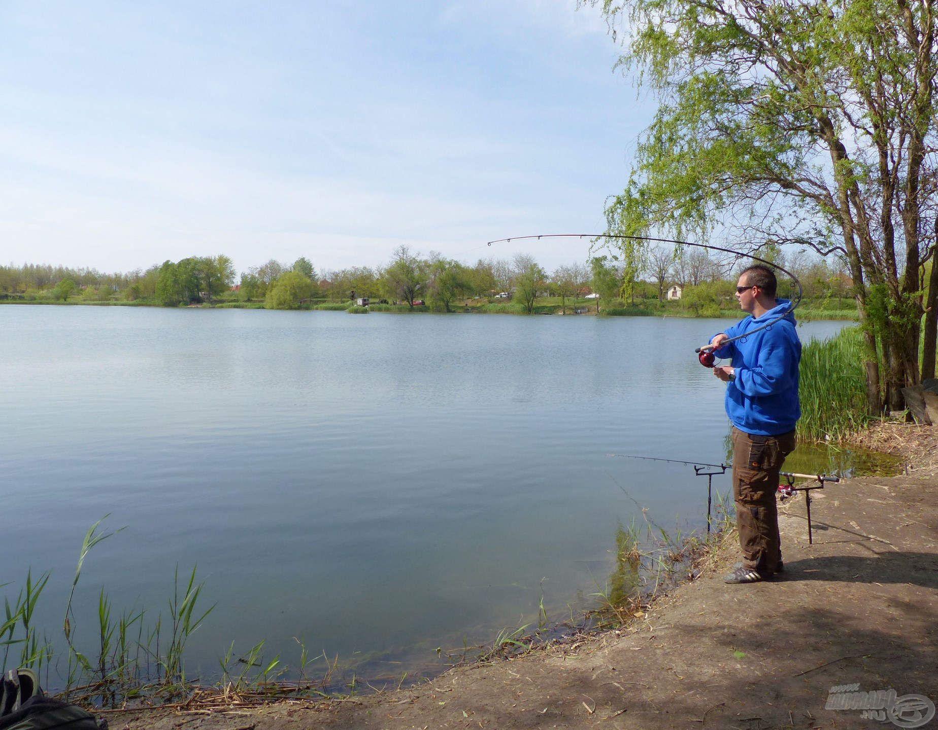 A horgászat az utolsó pillanatig izgalmas volt. Ha így görbül egy feederbot, nagy baj már nem lehet!