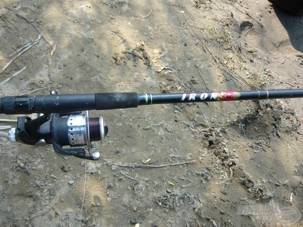 A botom egy 3,6m hosszú Spro Iron-X feeder, az orsó pedig egy Spro Hardline LCS Pro 10050
