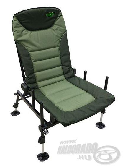 Egy kedvező árú feeder fotel, ami moduláris, tehát a különböző kiegészítőket is rászerelhetjük