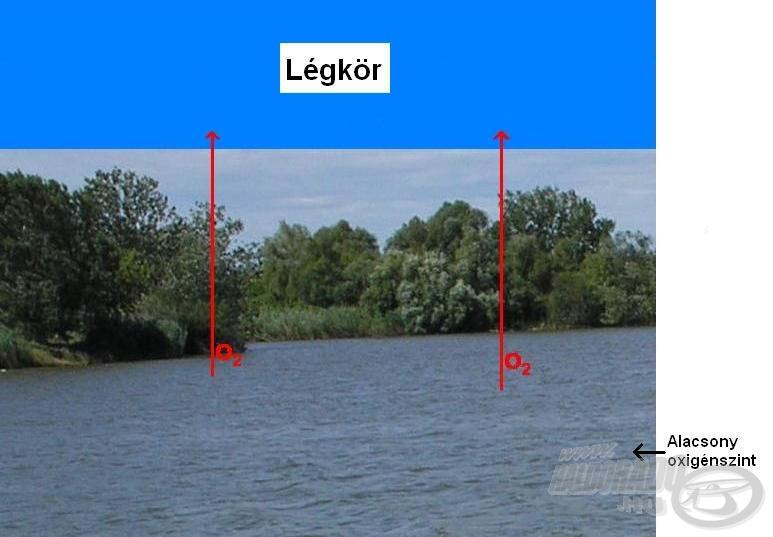 Az alacsony légnyomás csökkenti a vízben oldott oxigén koncentrációját