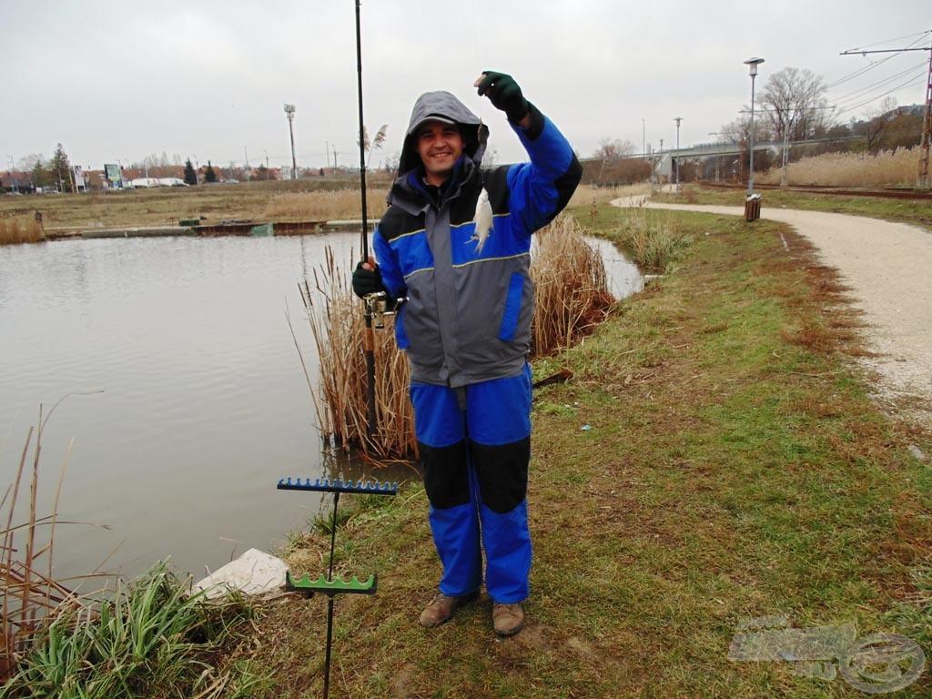 A method szerelékkel is sikerült halat fogni, de közel sem annyit, mint a hosszú előkéssel