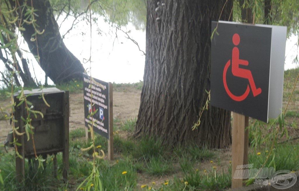 A mozgássérültek részére kijelölt/fenntartott horgászhely…