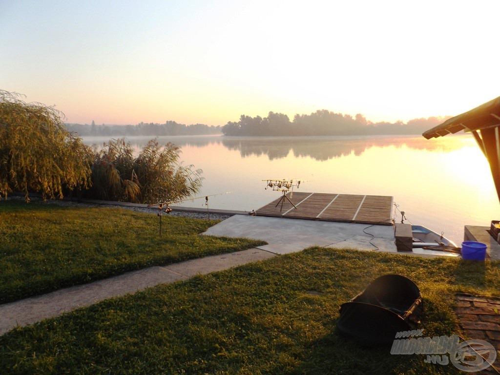 Nyár végi, gyékényesi reggeli kép - az időjárás most nagyon kegyes volt hozzánk