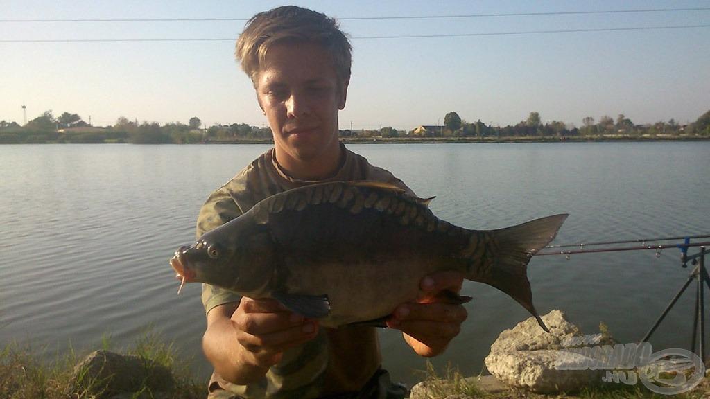 Kézben a nap utolsó hala. Neki is nagyon örültem