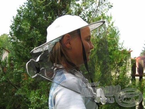 A méhészkalap önmagában is remekül használható…