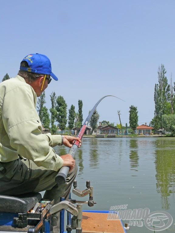 A nagyobb halak horgászata nagyon élvezetes ezzel a technikával