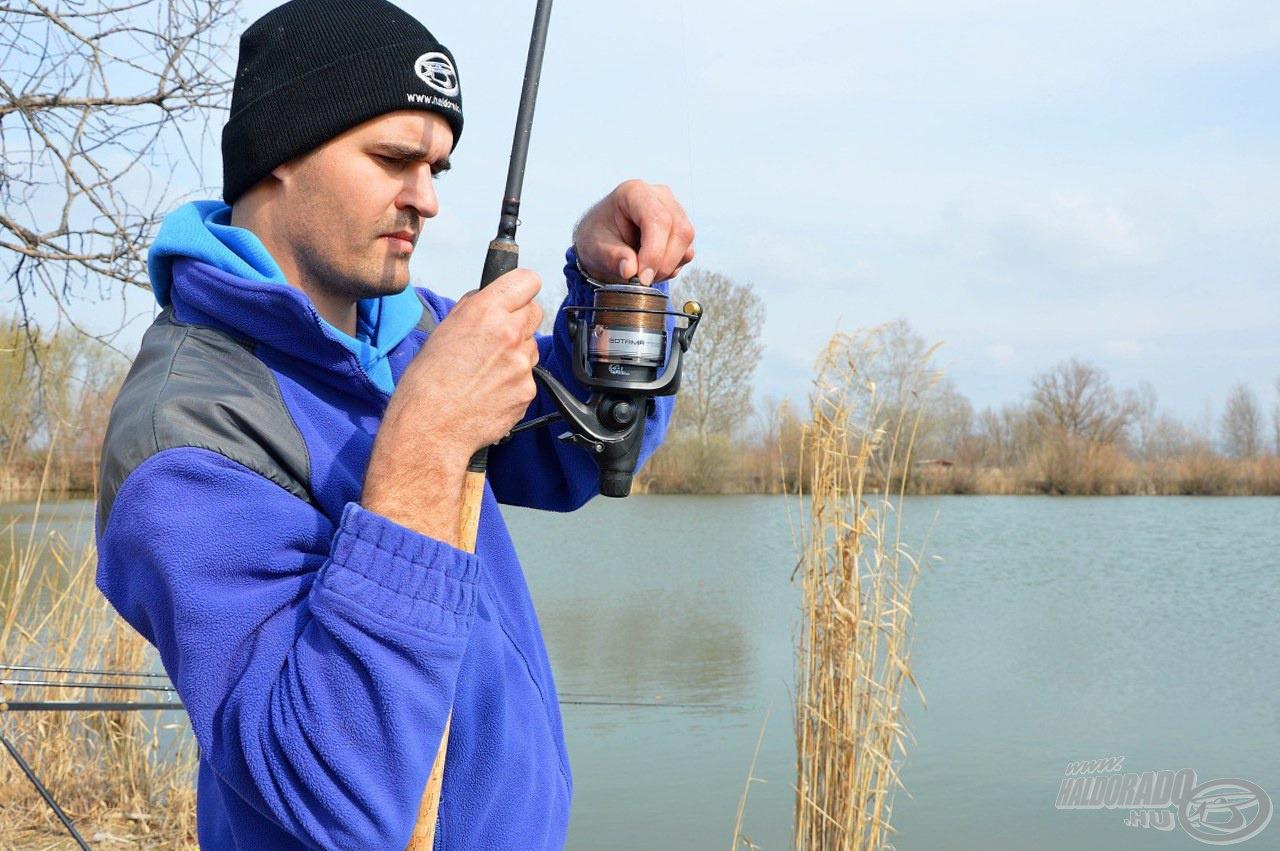 Horgászat közben gyorsan lehet szabályozni, mert kézre esik