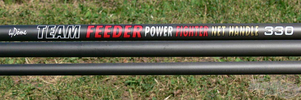 A By Döme TEAM FEEDER Power Fighter 3,30 rakós merítőnyél a termékcsalád legrövidebb, legkedvezőbb árú tagja. Ez a méret ideális választás a legtöbb finomszerelékes horgászmódszerhez