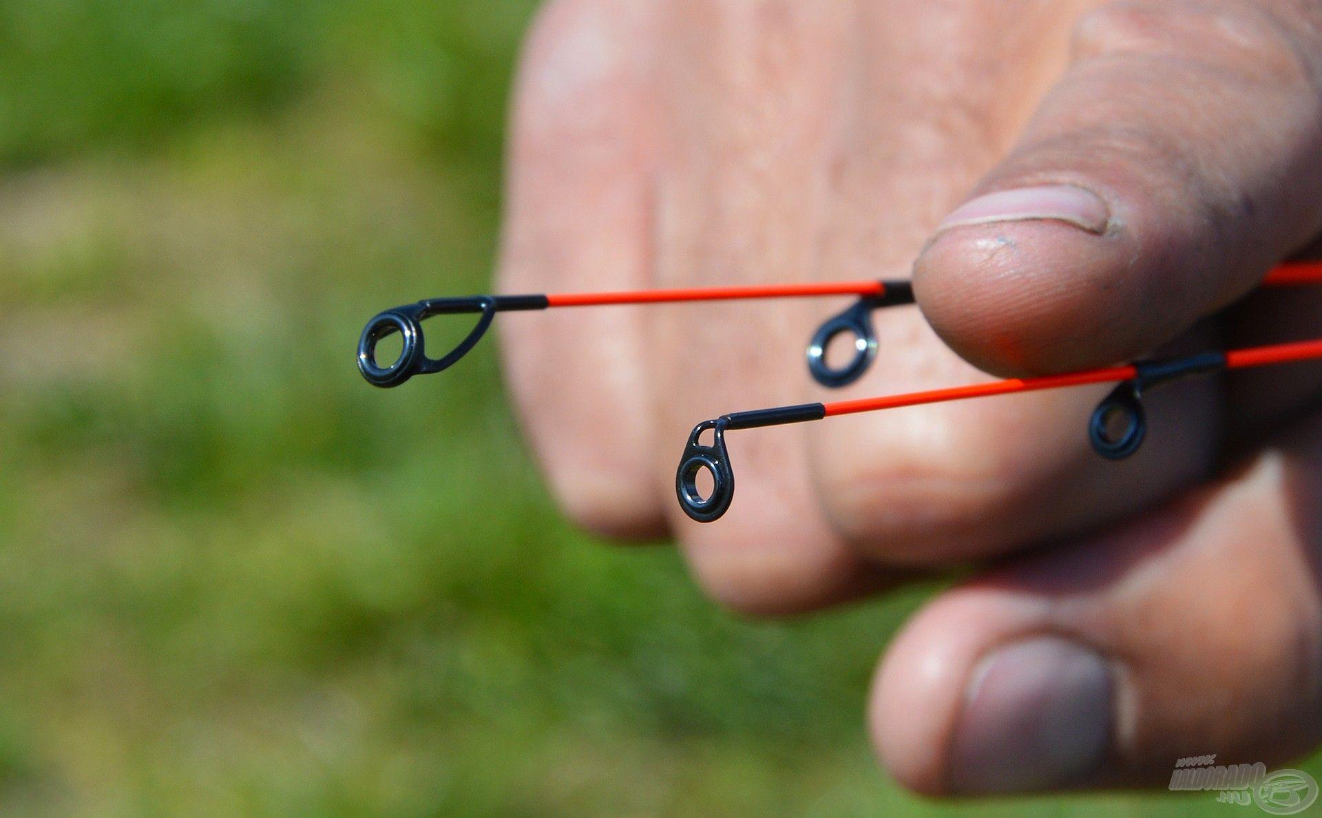 Míg a Gold Fine változat hagyományos spiccgyűrűvel rendelkezik, a Gold Carp spiccgyűrűk dupla talpas megtámasztást kaptak