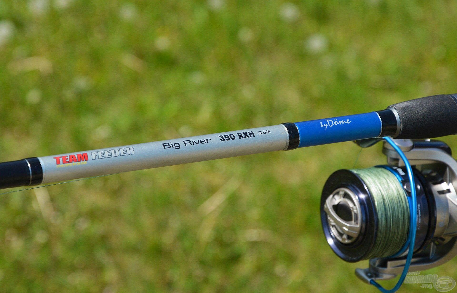 Legerősebb botomat, a By Döme TEAM FEEDER Big River 390RXH típust használom hozzá…
