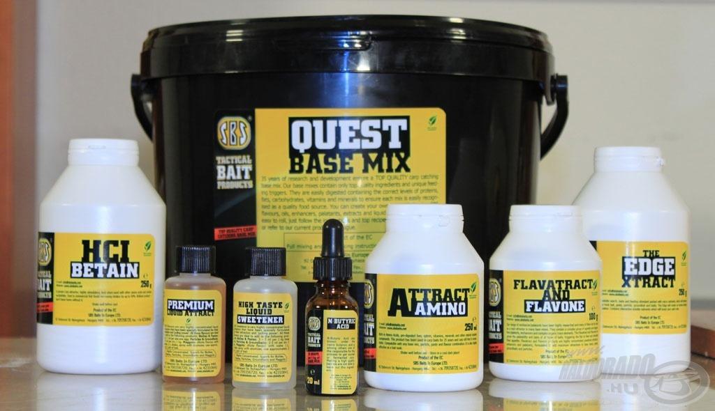 A szükséges összetevők és az gazdaságosabb, 5 kg-os vödrös kiszerelésű M3 Quest Base Mix