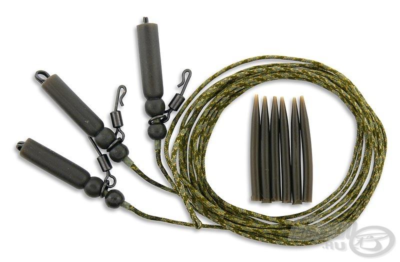 A csomag három helikopter-szereléket és a hozzájuk tartozó előkerögzítő gumihüvelyeket tartalmazza