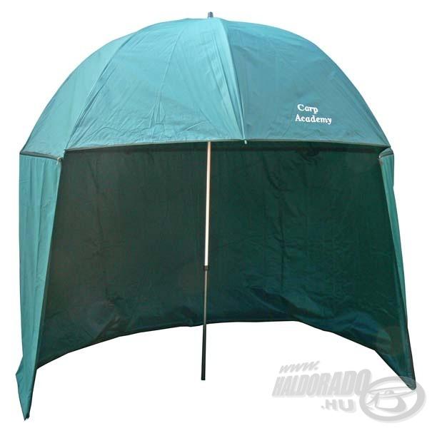 A sátras ernyő pótolhatja a sátrat egy rövidebb, egy-két napos horgászat alkalmával