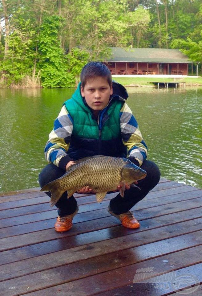 Az eső után egy szép hal