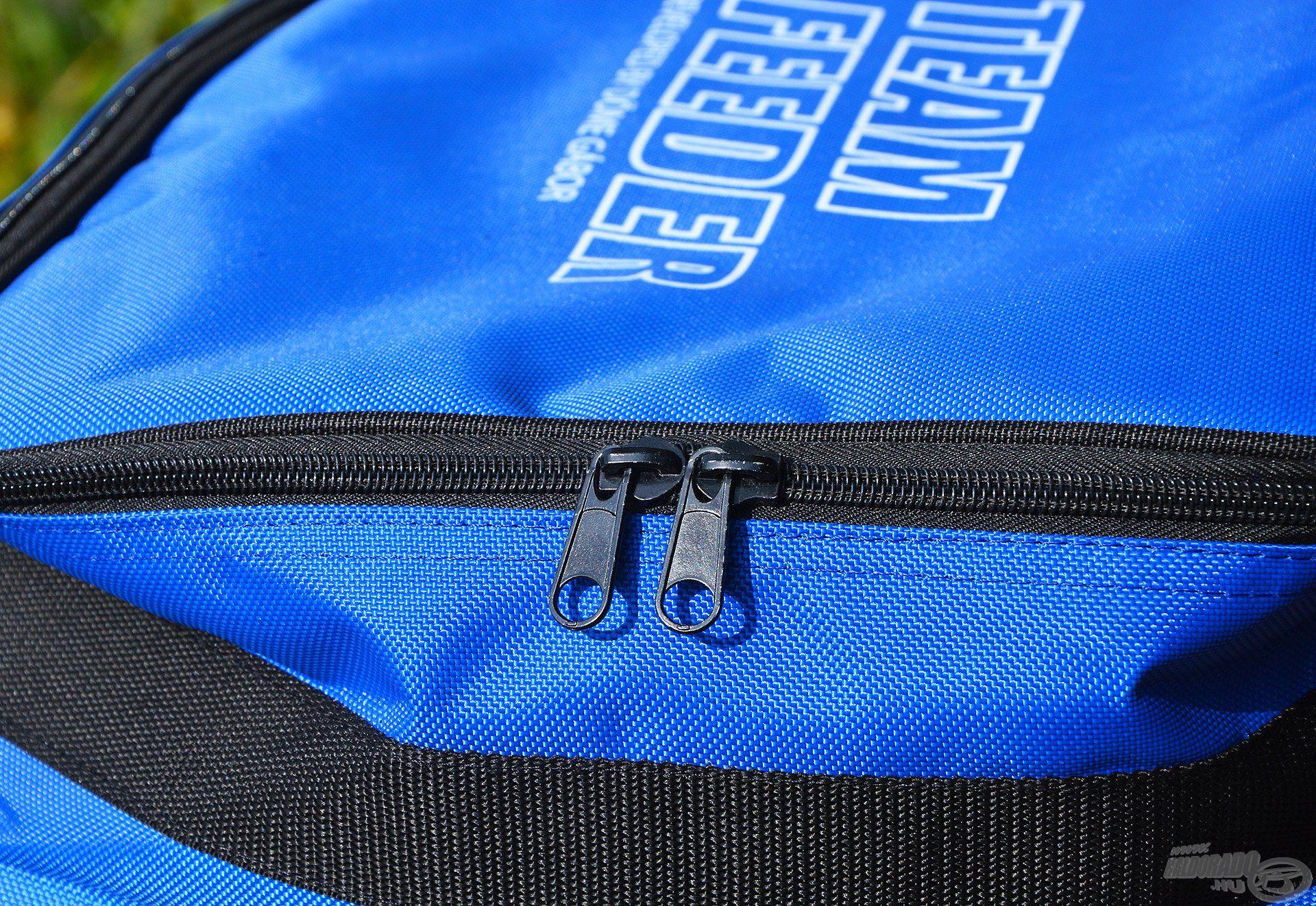 A strapabíró zipzár az orsótartóknál is megtalálható