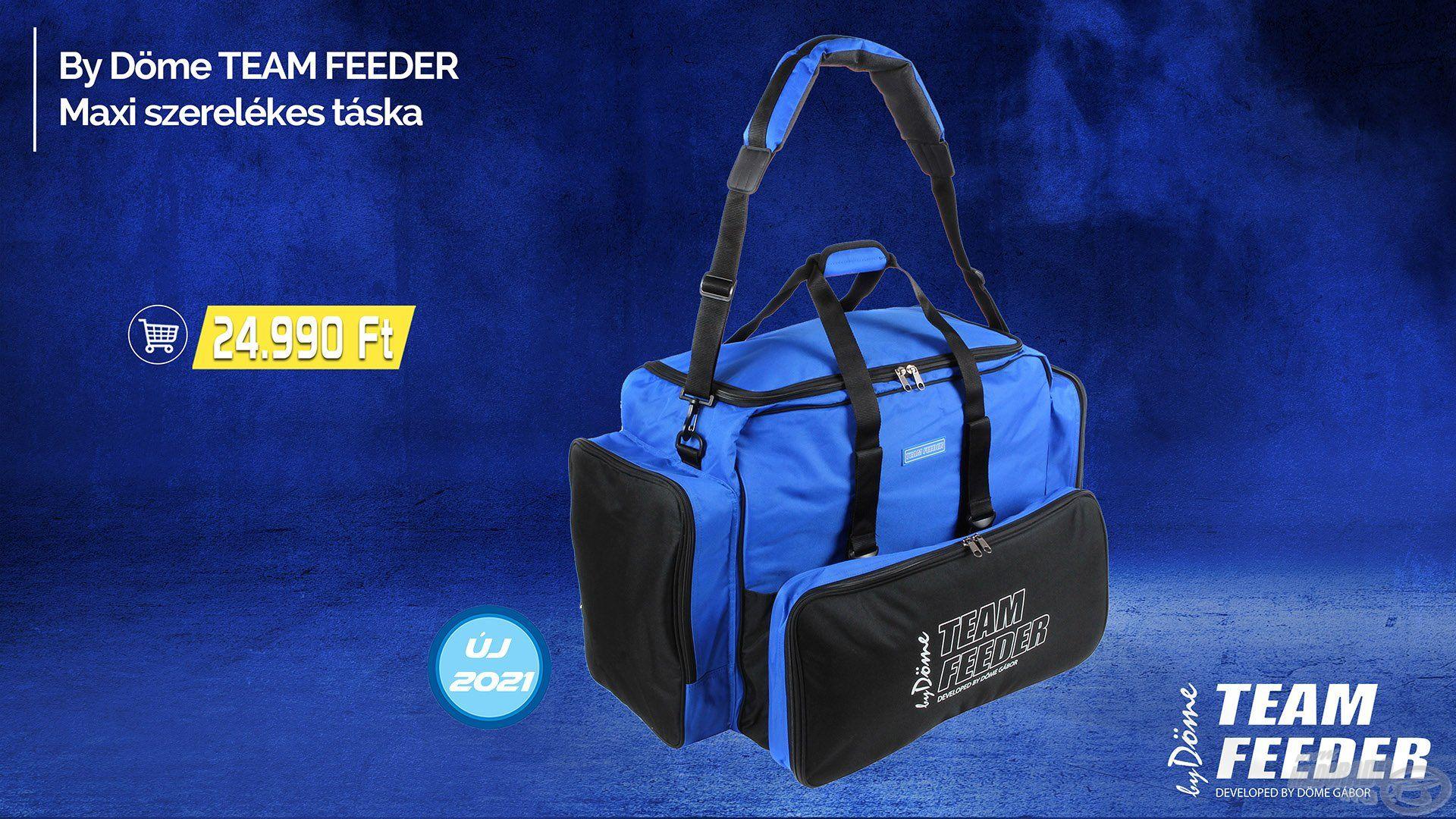 A By Döme TEAM FEEDER táskák kollekciója egy újabb nagyszerű típussal gyarapodott, jelen esetben szó minden értelmében!