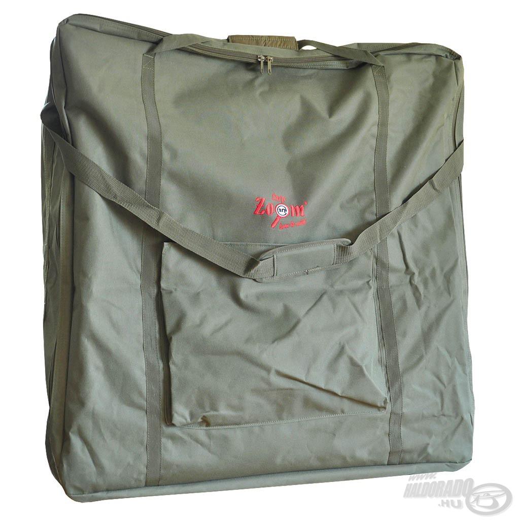 Praktikus táska az összecsukott ágyak szállításához