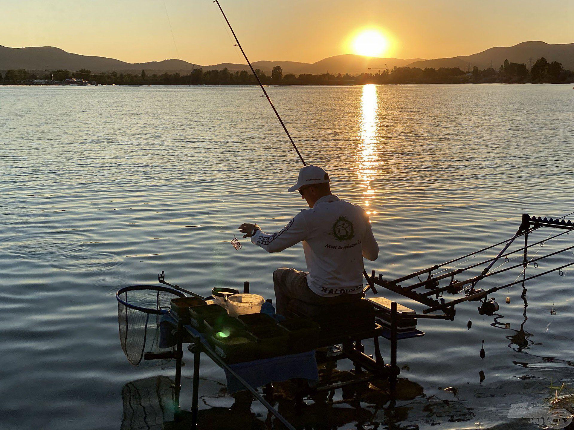 Késő délután érkeztem és kezdtem a horgászathoz