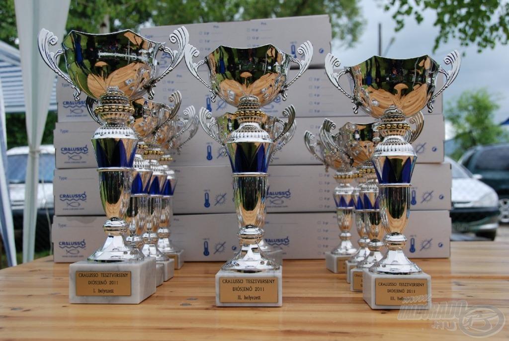 A nyerteseket díszes kupák és praktikus Cralusso ajándékok várták
