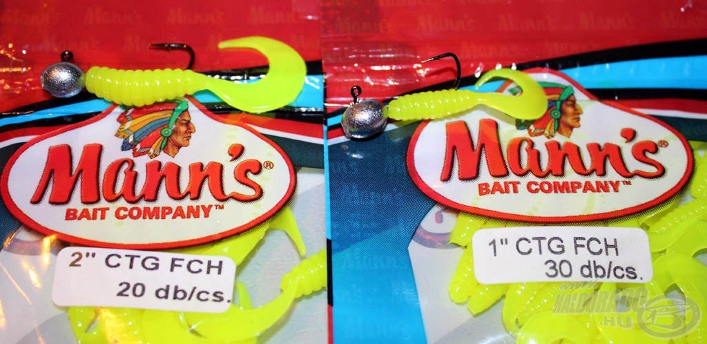 A finom pergetők körében - a halak legnagyobb bánatára - nagyon népszerűek a Mann's 1 és 2 hüvelykes kis twisterei