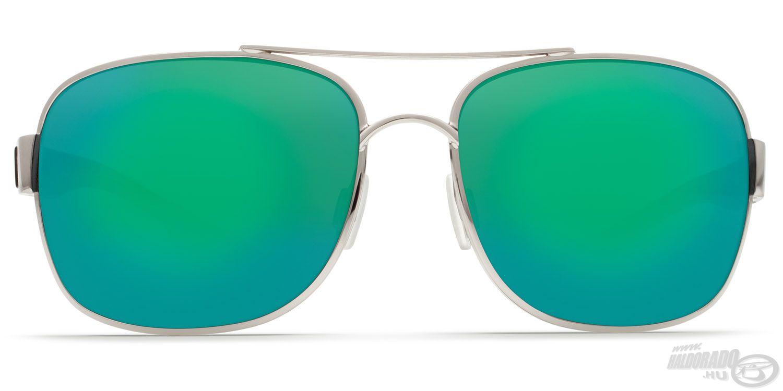 Barna színű lencse, zöld tükröződő bevonattal, karcálló polikarbonátból