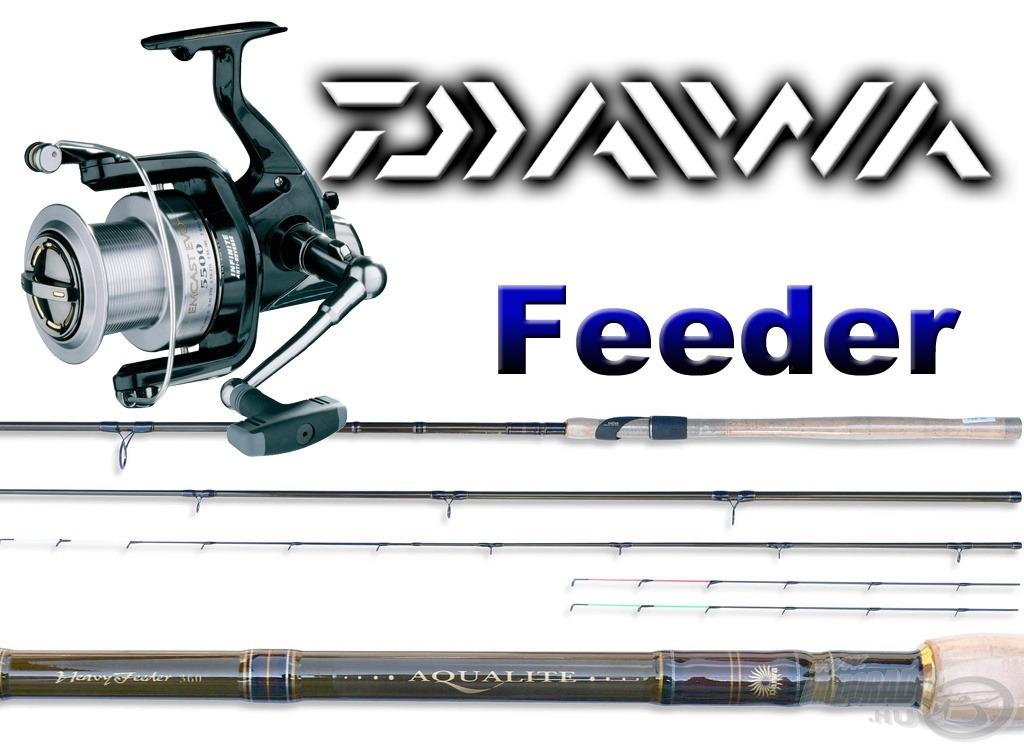 A feeder pecások egy igazi nagyhalas feeder szettre, egy DAIWA AQUALITE 390 Heavy botra és hozzá az EMCAST EVO 5000 orsóra pályázhatnak