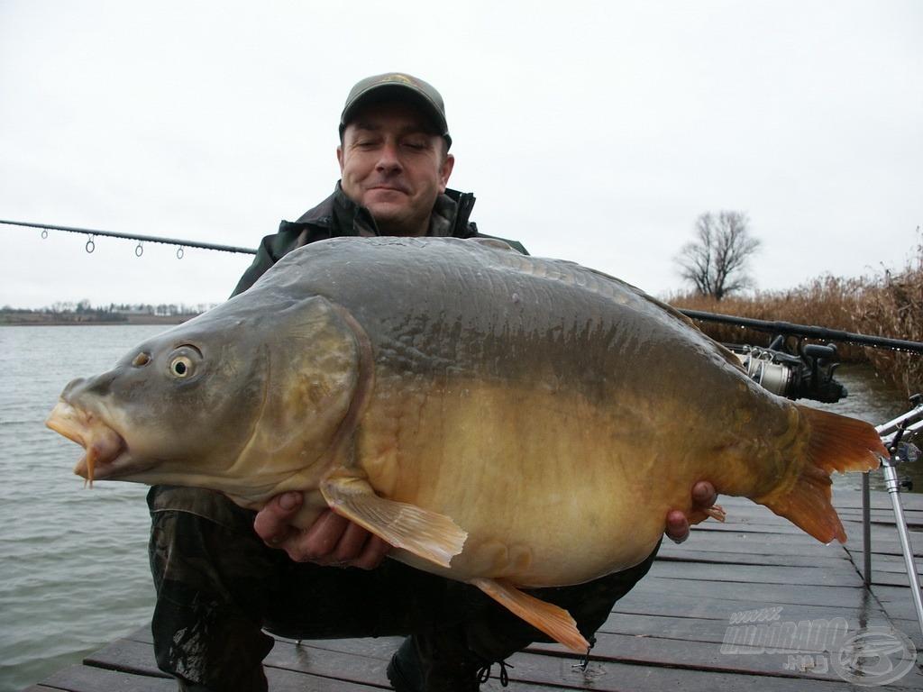 Hibátlan, gyönyörű hal, súlya 18 kg