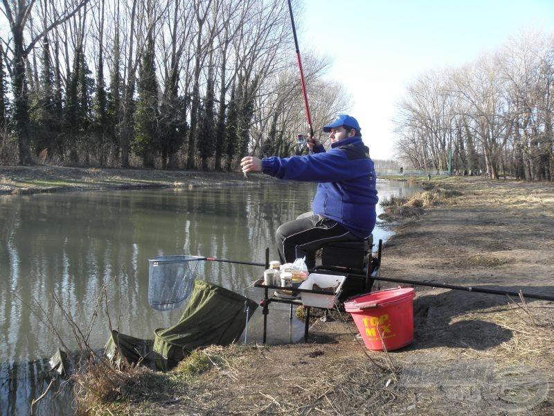 A kisebb bodorkákat röptetem a gyors horgászat érdekében