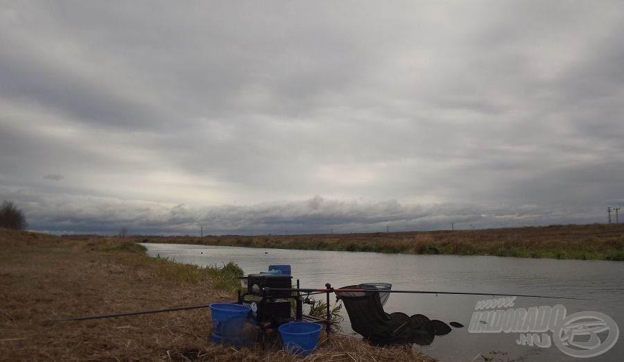 Kiépített horgászállásom